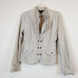 White house black market velvet blazer/jacket